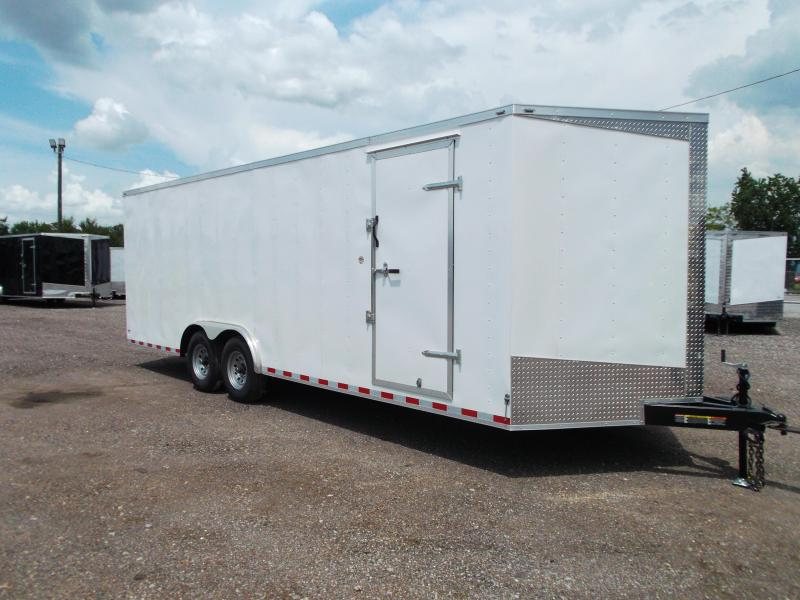 2018 Lark 8.5x24 Tandem Axle Cargo Trailer / Enclosed Trailer / Car Hauler / 7000# Axles / 7ft Interior / Ramp / LEDs