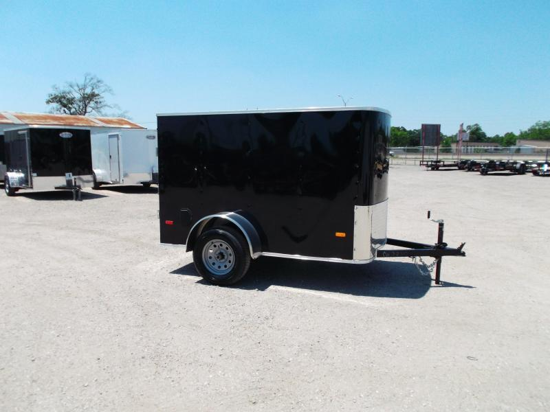 SPECIAL - 2019 Covered Wagon Trailers 5x8 Single Axle Cargo / Enclosed Trailer w/ Swing Door
