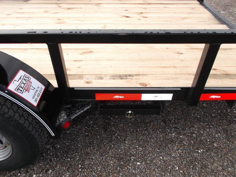 """2018 Longhorn Trailers 83x20 Utility Trailer w/ 5200# Axles / 2"""" Square Tubing / Brakes / 5ft Ramps"""