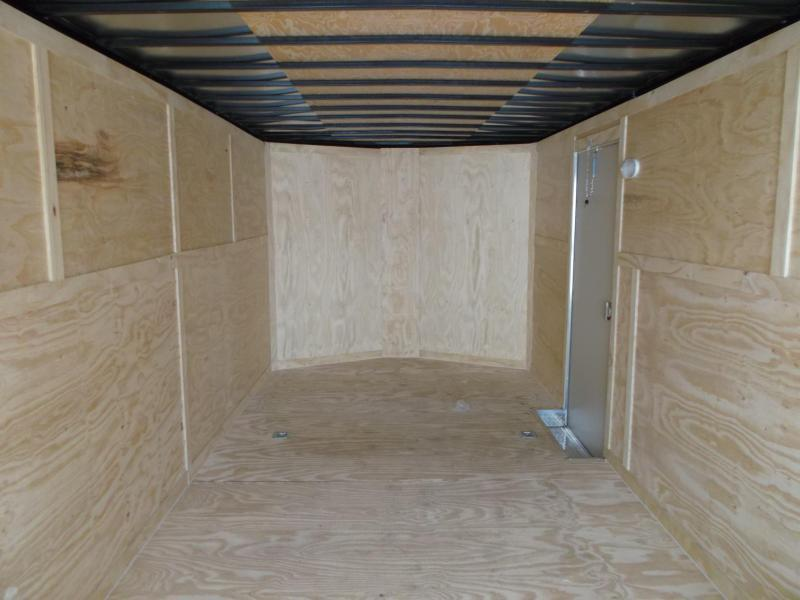 2018 Covered Wagon Trailers 8.5x28 Tandem Axle Cargo / Enclosed Trailer / Car Hauler w/ Ramp / 5200 # Axles / 7ft Interior / LEDs
