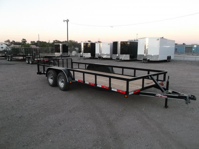 2018 Longhorn Trailers 18ft Utility Trailer w/ 2ft Dovetail / 2ft Ramp