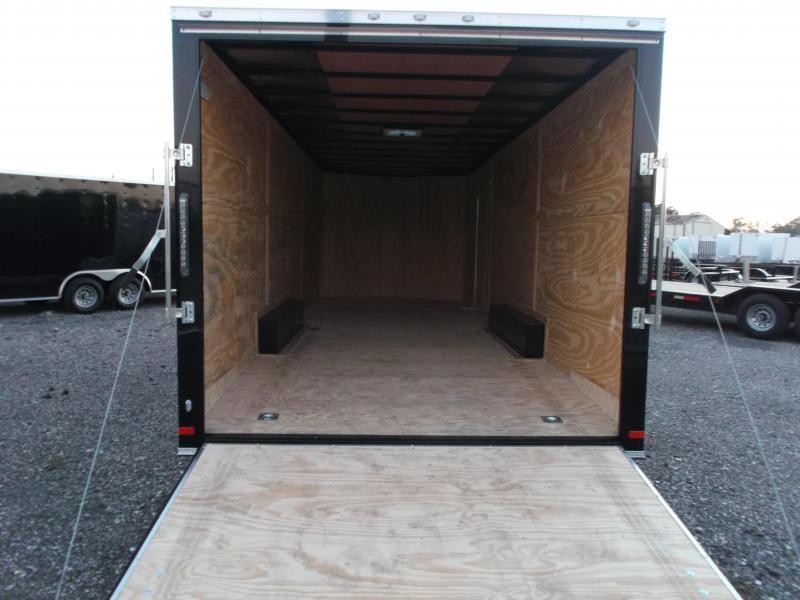 "2019 Covered Wagon Cargo 8.5x24 Tandem Axle Cargo / Enclosed Trailer / 7'6"" Interior / 5200# Axles / Ramp / LEDs"