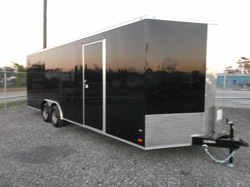 "2019 Covered Wagon Cargo 8.5x24 Tandem Axle Cargo / Enclosed Trailer / 7'6"" Interior / 5200# Axles / Ramp / LEDs"