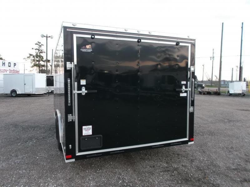 2019 Covered Wagon 8.5x16 Tandem Axle Cargo Trailer / Car Hauler / Ramp / RV Side Door / LEDs