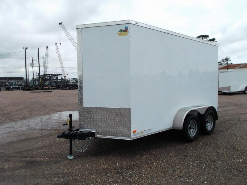 SPECIAL - 2019 Covered Wagon Trailers 6x12 Tandem Axle Cargo Trailer / Enclosed Trailer w/ 7ft Interior / Ramp Gate