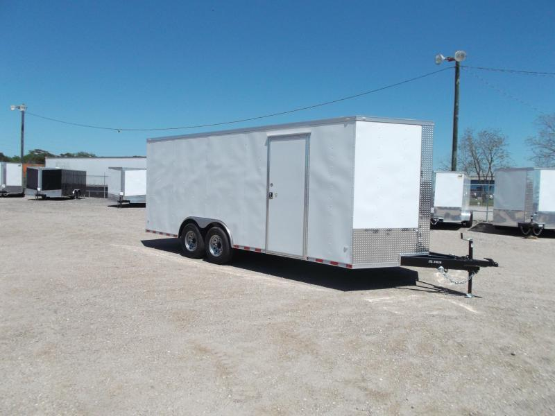 2018 Covered Wagon Trailers 8.5x20 Tandem Axle Cargo / Enclosed Trailer / 7ft Interior Height / 7000# Torsion Axles / Ramp / LEDs