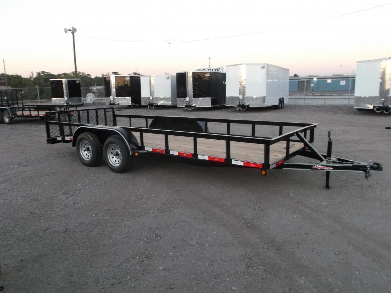 2019 Longhorn Trailers 18ft Utility Trailer / 2ft Dovetail / 2ft Ramp Gate