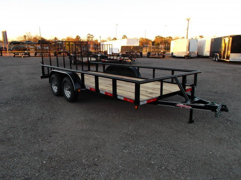 2018 Longhorn Trailers 16ft Utility Trailer w/ Pipetop / 4ft Ramp Gate / Electric Brakes