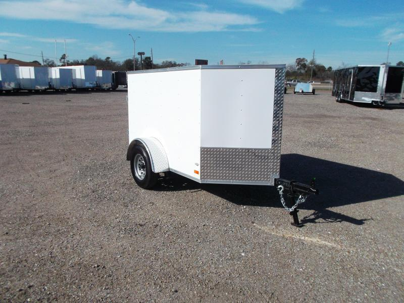 4x6 Enclosed Trailer >> 2019 Covered Wagon Trailers 4x6 Single Axle Cargo Trailer Enclosed