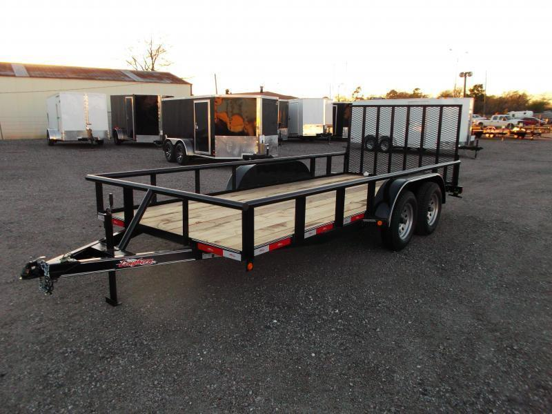 2019 Longhorn Trailers 16ft Utility Trailer / Pipetop / 4ft Ramp Gate