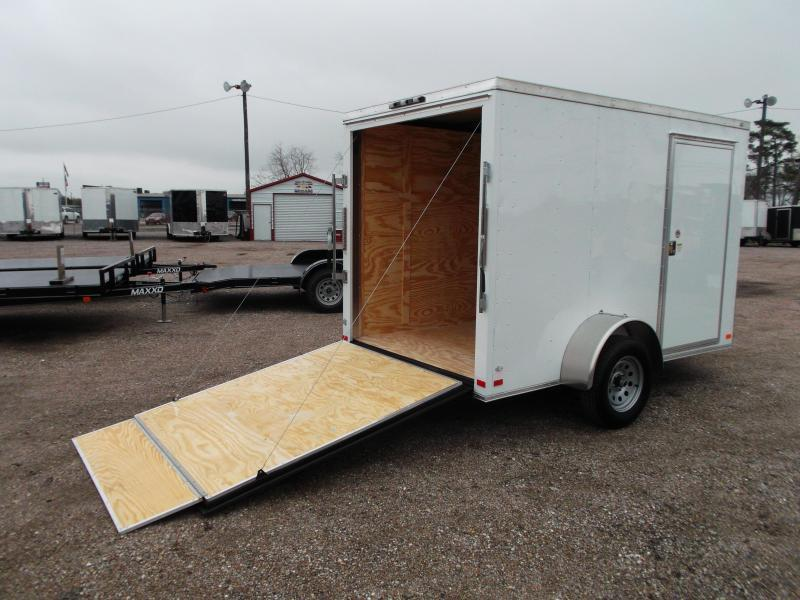 2018 Covered Wagon Trailers 6x10 Single Axle Cargo / Enclosed Trailer w/ V-Nose and Ramp