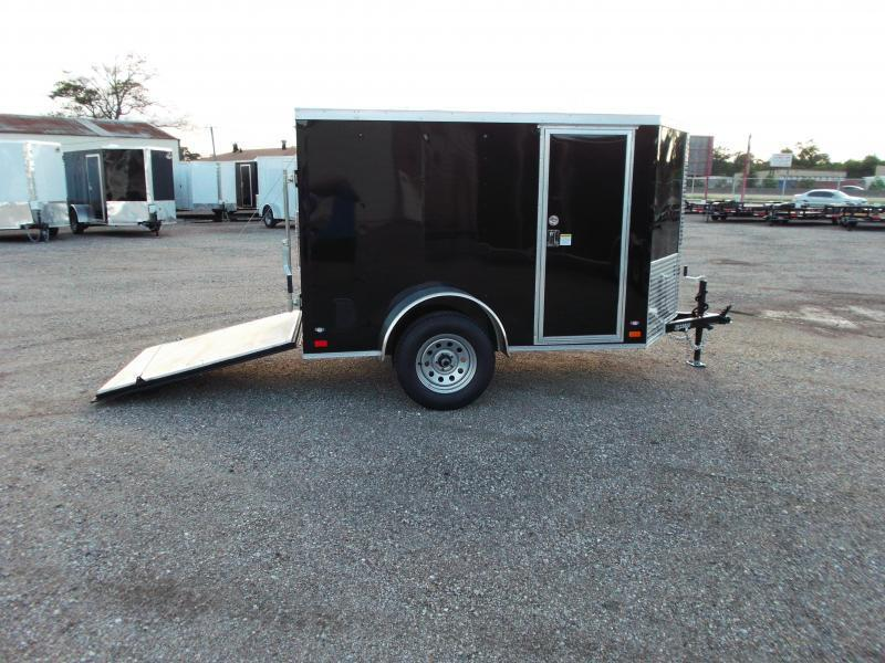 2019 Covered Wagon Trailers 5x8 Single Axle Cargo / Enclosed Trailer / Ramp / RV Side Door / LEDs