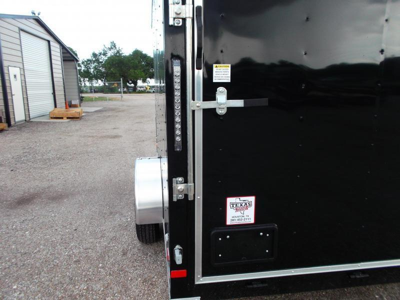 2019 Covered Wagon Cargo Trailer 7x12 Single Axle Cargo Trailer / Enclosed Trailer / Ramp Gate / RV Side Door / LEDs