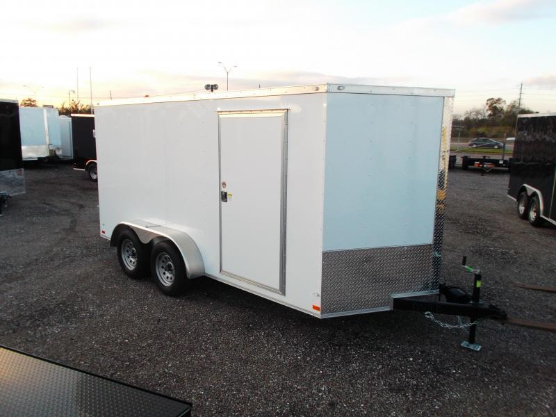"2019 Covered Wagon Trailers 7x14 Tandem Axle Cargo Trailer / Enclosed Trailer / Barn Doors / 6'6"" Interior / LEDs"