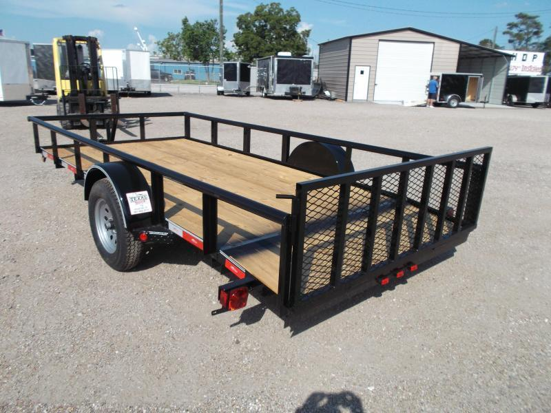 2019 Longhorn Trailers 77x14 Single Axle Utility Trailer / Pipetop / 2ft Dovetail / 2ft Ramp Gate