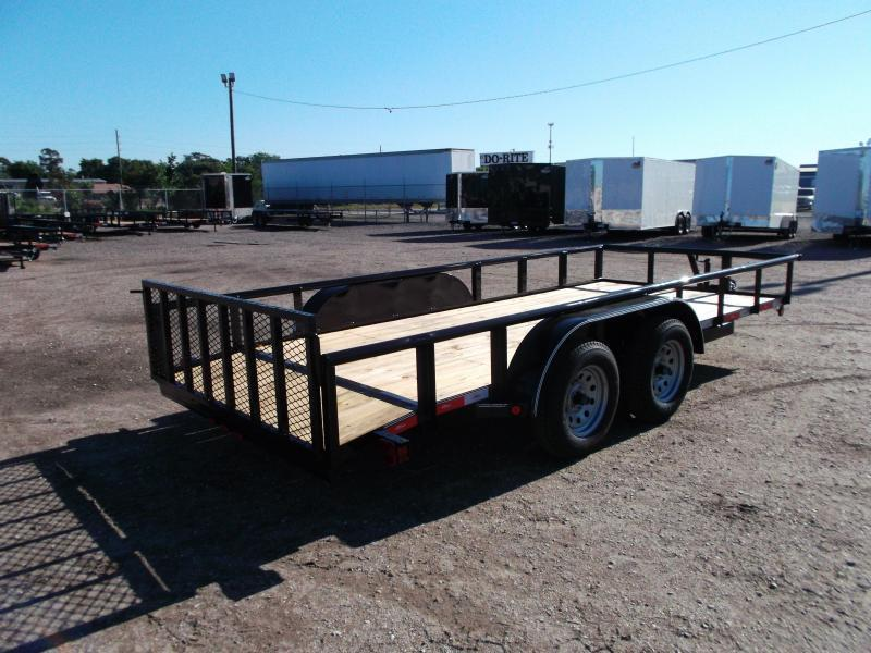 2019 Longhorn Trailers 16ft Utility Trailer w/ Pipetop / 2ft Dovetail / 2ft Ramp Gate