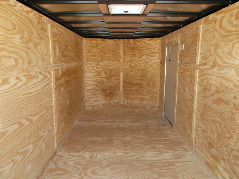 "2018 Covered Wagon Trailers 7x16 Tandem Axle Cargo Trailer / Enclosed Trailer w/ 6'6"" Interior / Ramp"