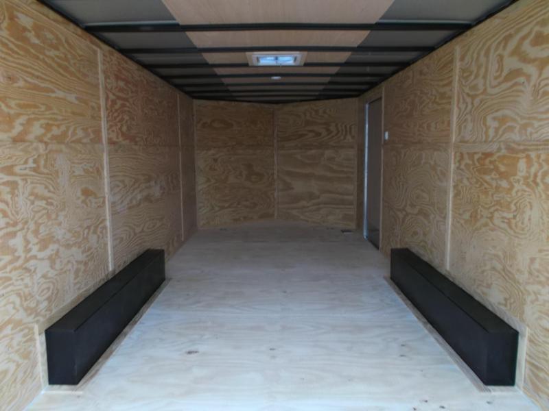2019 Lark 8.5x20 Tandem Axle Cargo Trailer / Car Hauler / 5200# Axles / Heavy Duty Ramp / LEDs