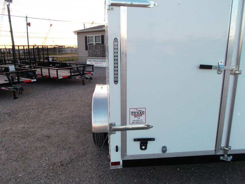 2019 Lark 7x14 Tandem Axle Cargo Trailer / Enclosed Trailer / Barn Doors / LEDs - BLACK