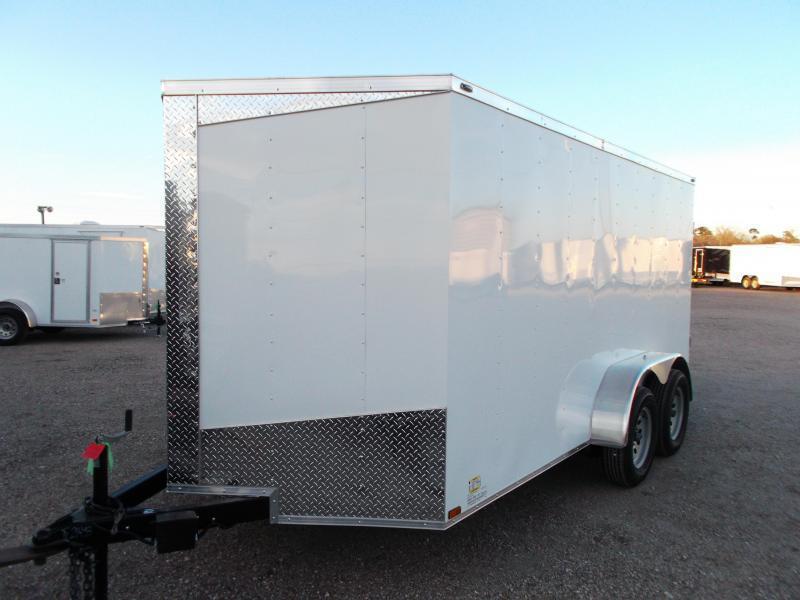 "2018 Lark 7x14 Tandem Axle Cargo Trailer / Enclosed Trailer w/ Barn Doors / 6'6"" Interior Height / LEDs"