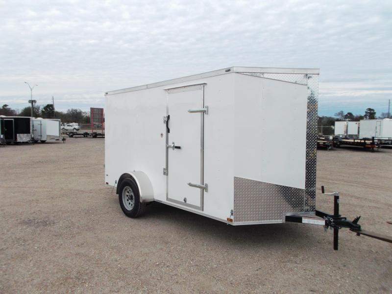 "2019 Lark 6x12 Single Axle Cargo Trailer / Enclosed Trailer / Ramp / 6'6"" Interior / LEDs"