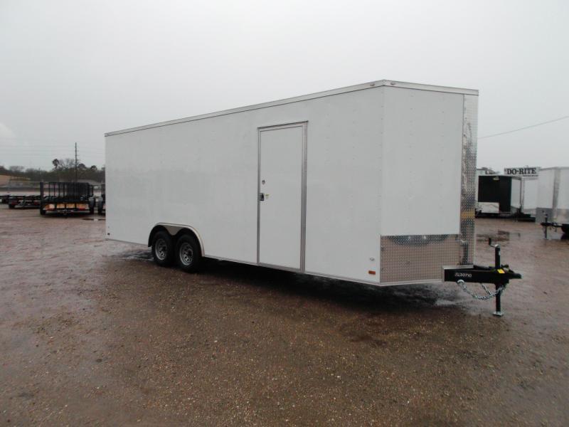 "2018 Covered Wagon Cargo 8.5x24 Tandem Axle Cargo Trailer / Car Hauler w/ 7'6"" Interior / 5200# Axles / Ramp"