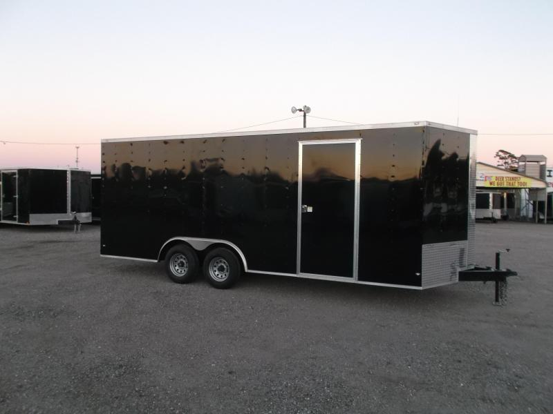 2019 Covered Wagon Trailers 8.5x20 Tandem Axle Cargo / Enclosed Trailer / 5200# Axles / RV Side Door / LEDs