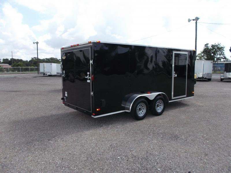 2018 Covered Wagon Trailers 7x16 Tandem Axle Cargo Trailer / Enclosed Trailer w/ Ramp