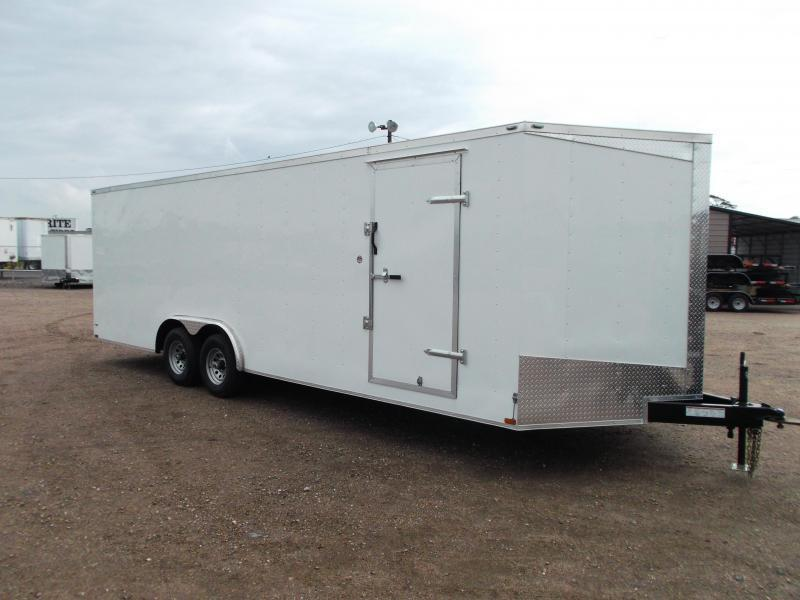 2018 Lark 8.5x24 Tandem Axle Cargo Trailer / Enclosed Trailer / Car Hauler / 5200# Axles / Heavy Duty Ramp / LEDs