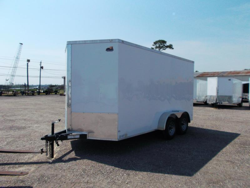 2018 Covered Wagon Trailers 7x14 Tandem Axle Cargo Trailer / Enclosed Trailer / Ramp / RV Side Door / LEDs