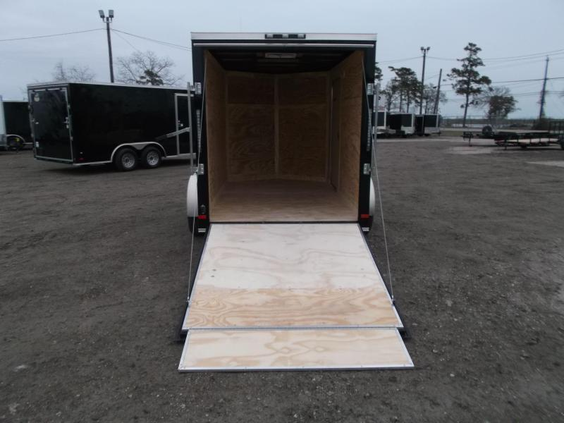 2019 Covered Wagon Trailers 6x10 Single Axle Cargo / Enclosed Trailer / V-Nose / Ramp Gate / RV Side Door / LEDs