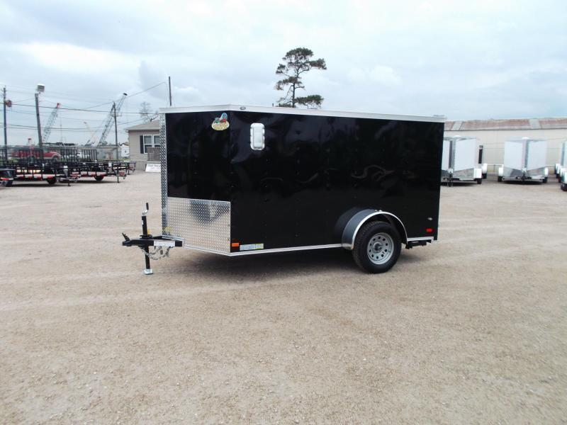 SPECIAL - 2019 Covered Wagon Trailers 6x10 Low Profile Motorcycle Trailer / Cargo Trailer / Ramp / WHITE Exterior