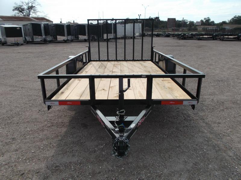 2018 Longhorn Trailers 77x12 Single Axle Utility Trailer w/ Heavy Duty 4ft Ramp