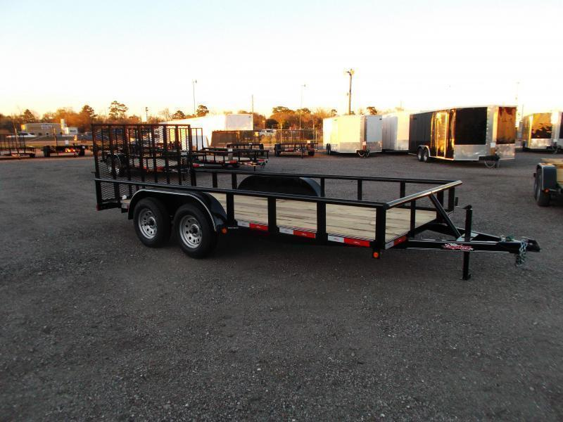 2018 Longhorn Trailers 16ft Utility Trailer w/ Pipetop / 4ft Ramp Gate