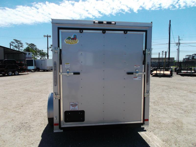 2018 Covered Wagon Trailers 6x10 Single Axle Cargo / Enclosed Trailer w/ Two Tone / V-Nose / Ramp