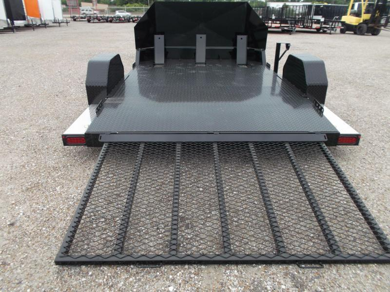 2018 Maxxd 82x10 (1 - 3 Bike) Motorcycle Hauler / Motorcycle Trailer / Rock Guard / Powder Coated / Chocks / D-Rings