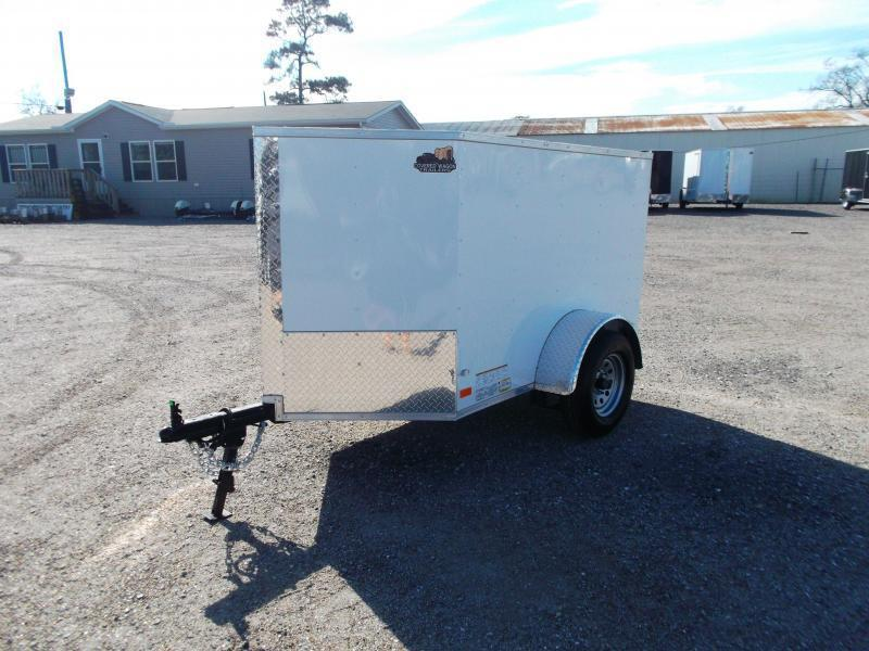 2019 Covered Wagon Trailers 4x6 Single Axle Cargo Trailer / Enclosed Trailer / LEDs