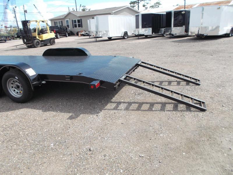 2018 Diamond T 83X18 7K Steel Deck Car Hauler / Racing Trailer / 3500# Axles / Dovetail / LEDs