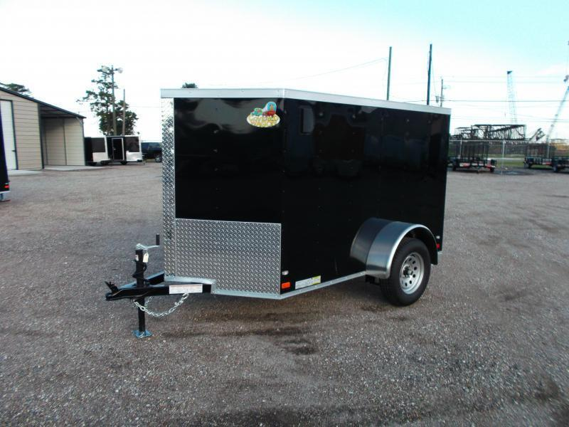 2018 Covered Wagon Trailers 5x8 Single Axle Cargo Trailer / Enclosed Trailer / Ramp / LEDs