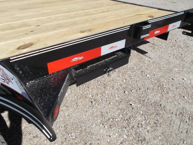 2018 Longhorn Trailers 20ft 7K Flat Deck / Car Hauler / Racing Trailer w/ Straight Deck / 5ft Ramps