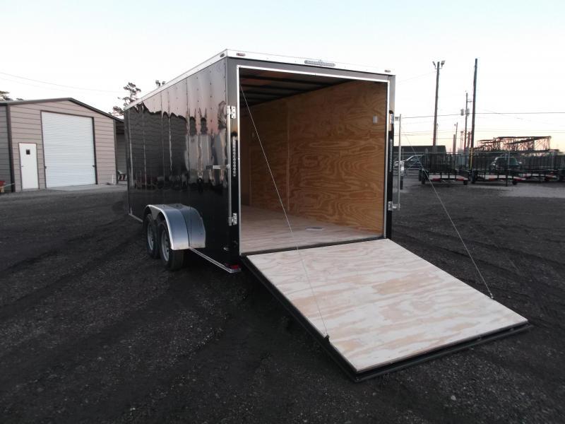 """2018 Lark 7x18 Tandem Axle Cargo Trailer / Enclosed Trailer / Ramp / 6'6"""" Interior"""