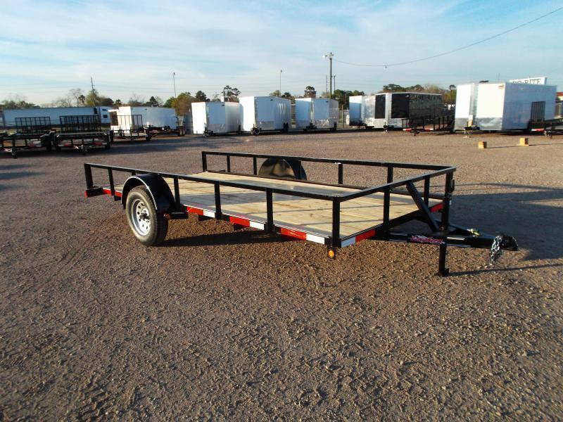 2019 Longhorn Trailers 77x14 Single Axle Utility Trailer w/ No Gate