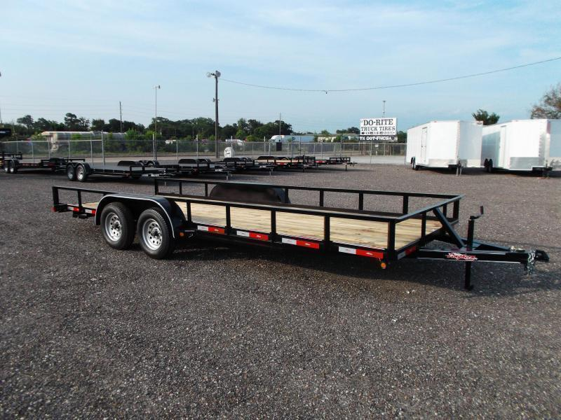 2018 Longhorn Trailers 83x20 Utility Trailer w/ 5ft Slide Out Ramps / Electric Brakes