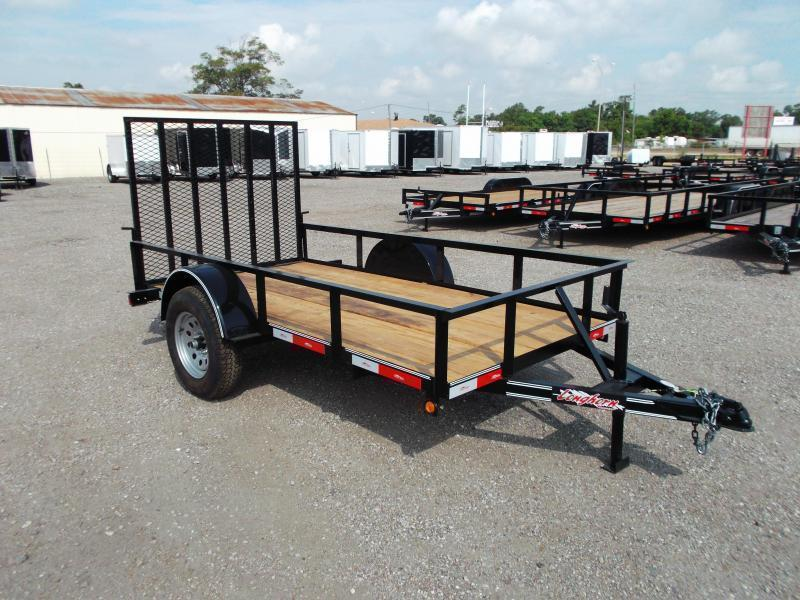 2019 Longhorn Trailers 5x10 Utility Trailer w/ 4ft Heavy Duty Ramp Gate