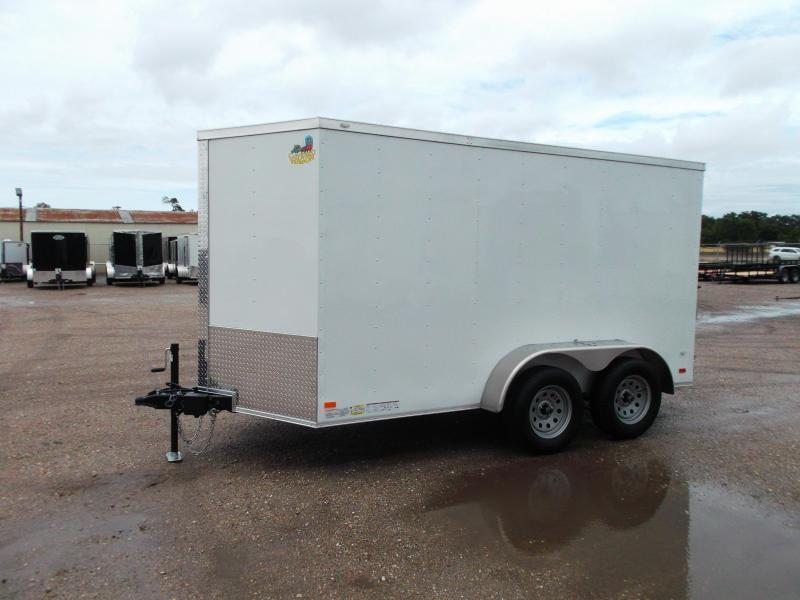 2019 Covered Wagon Trailers 6x12 Tandem Axle Cargo Trailer / Enclosed Trailer / Barn Doors / RV Side Door / LEDs