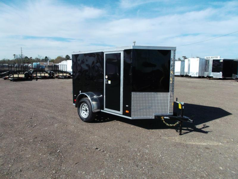 2019 Covered Wagon Trailers 5x8 Single Axle Cargo / Enclosed Trailer w/ Barn Doors / RV Side Door / LEDs