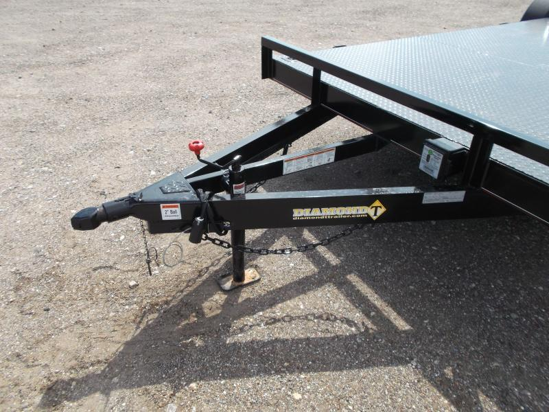 2018 Diamond T 83X20 7K Steel Deck Car Hauler / Racing Trailer / 3500# Axles / Dovetail / LEDs