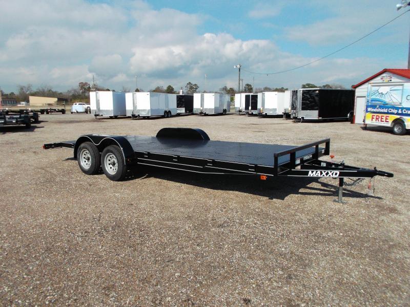 2018 Maxxd 83x18 Steel Deck Car Hauler / Racing Trailer / Powder Coated / 5ft Ramps / 2ft Dovetail