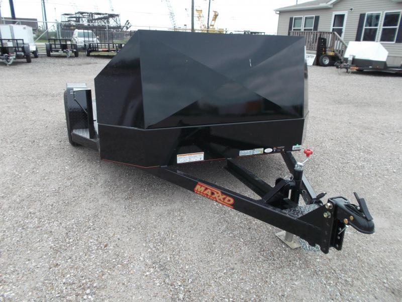 2017 Maxey 82x10 (1 - 3) Bike Motorcycle Hauler Motorcycle Trailer w/ Rock Guard / Powder Coated