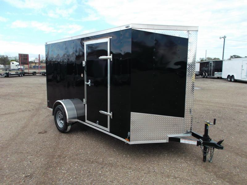 2018 Lark 6x12 Single Axle Cargo Trailer / Enclosed Trailer / Ramp / Side Door / LEDs